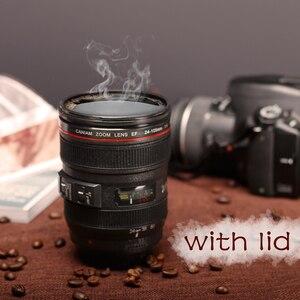 Image 1 - New Caniam SLR Kamera Objektiv 24 105mm Maßstab 1:1 Kunststoff Kaffee Tee BECHER 400ML Kreative Tassen Und becher Mit Deckel M102 BECHER 09