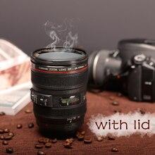 Nova caniam slr câmera lente 24 105mm 1:1 escala de plástico café caneca de chá 400 ml copos e canecas criativas com tampa m102 caneca 09