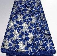 Jc24-4free para enviar o azul, Corda laço de tecido solúvel em água, A linha de bordado tecidos rendas, Preços