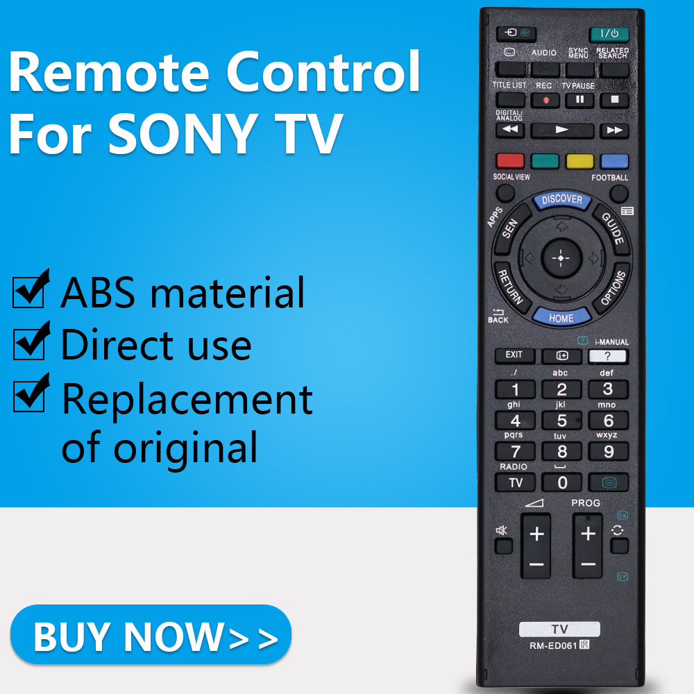 US $5 0 |ZF for Sony TV remote control RM ED061 KDL 42W705B 32W705B 50W656A  65W855A 32W600A/603A/605A/650A 48W585B 48W600B 42/32W705B-in Remote