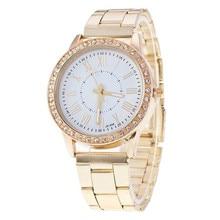 Men Women Watch Exquisite High quality Luxury Women Crystal Stainless Steel Quartz Analog Wrist Watch dropshipping hot sale3*
