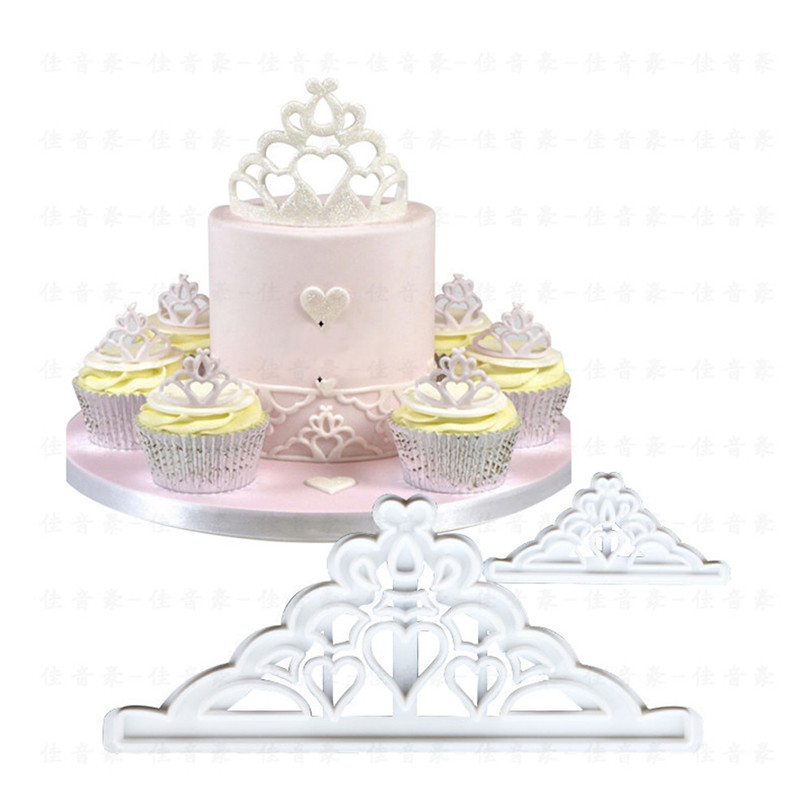 Mold Cake-Decoration-Tool Fondant-Mould Cookie-Biscuit Crown-Shape Candy Plastic Kitchen
