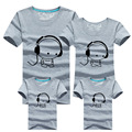 2016 Madre de La Manera Niños de La Familia T-Shirt de Impresión Preciosa Ropa de Verano de la Familia 100% de la Familia de Algodón A Juego Niños Trajes De Ropa