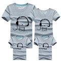 2016 Moda Mãe Da Família Dos Miúdos T-Shirt Encantador Impressão Roupas de Verão Da Família 100% Da Família de Algodão Correspondência Crianças Outfits Roupas