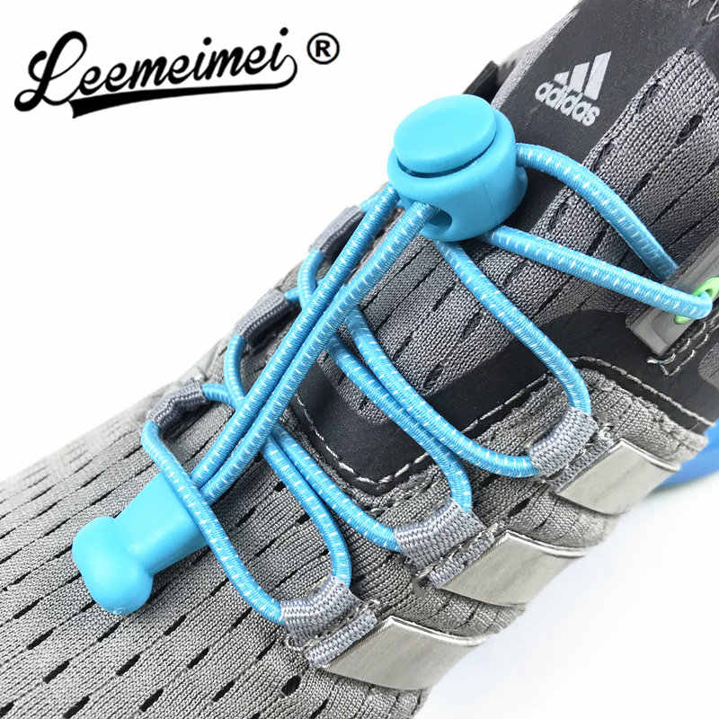 Stretching Lock lace 22 kleuren een paar Locking Schoenveters Elastic Sneaker Schoenveters Shoestrings Running/Joggen/Triathlon