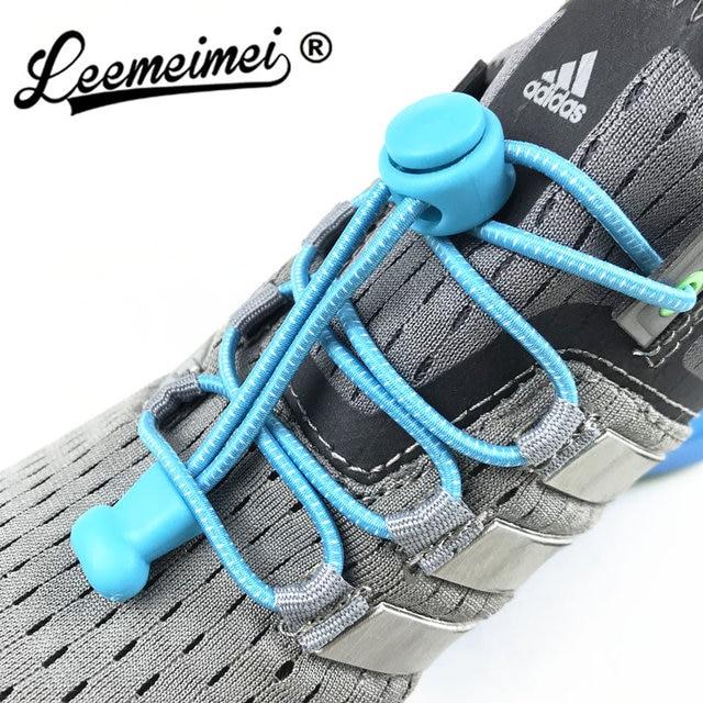 Kéo dài Khóa ren 22 màu sắc một cặp Của Khóa Giày Ren Đàn Hồi Sneaker Dây Giày Shoestrings Chạy/Chạy Bộ/Triathlon
