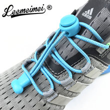 Stretching Lock lace 22 colors a pair Of Locking Shoe Laces Elastic Sneaker Shoelaces Shoestrings Running/Jogging/Triathlon(China)