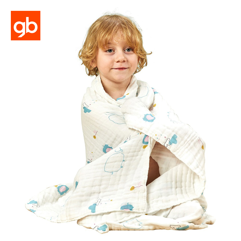 GB 100% Cotton Baby Swaddling Blanket Newborn Infant Muslin Blanket Baby Bedding Swaddling Warp Soft Baby Receiving Blankets 8 layers baby muslin cotton blanket & swaddling bedding thick warm newborn wrap autumn &winter children bedding quilt 120 120cm