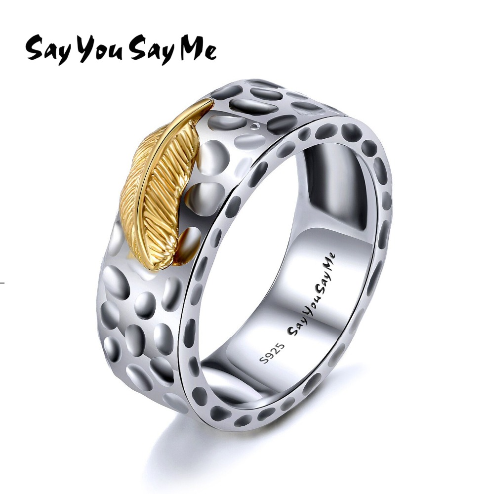 925 Sterling Silver Luxury Gold Leaf Rings Unisex Wedding&Engagement Leopard Rings Wholesale 2018 Fashion Gifts Say You Say Me 和18岁say hello