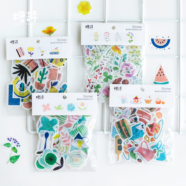 40pcs/pack Beautiful Island View Decorative Washi Stickers Scrapbooking Album Stick Label Diary Stationery