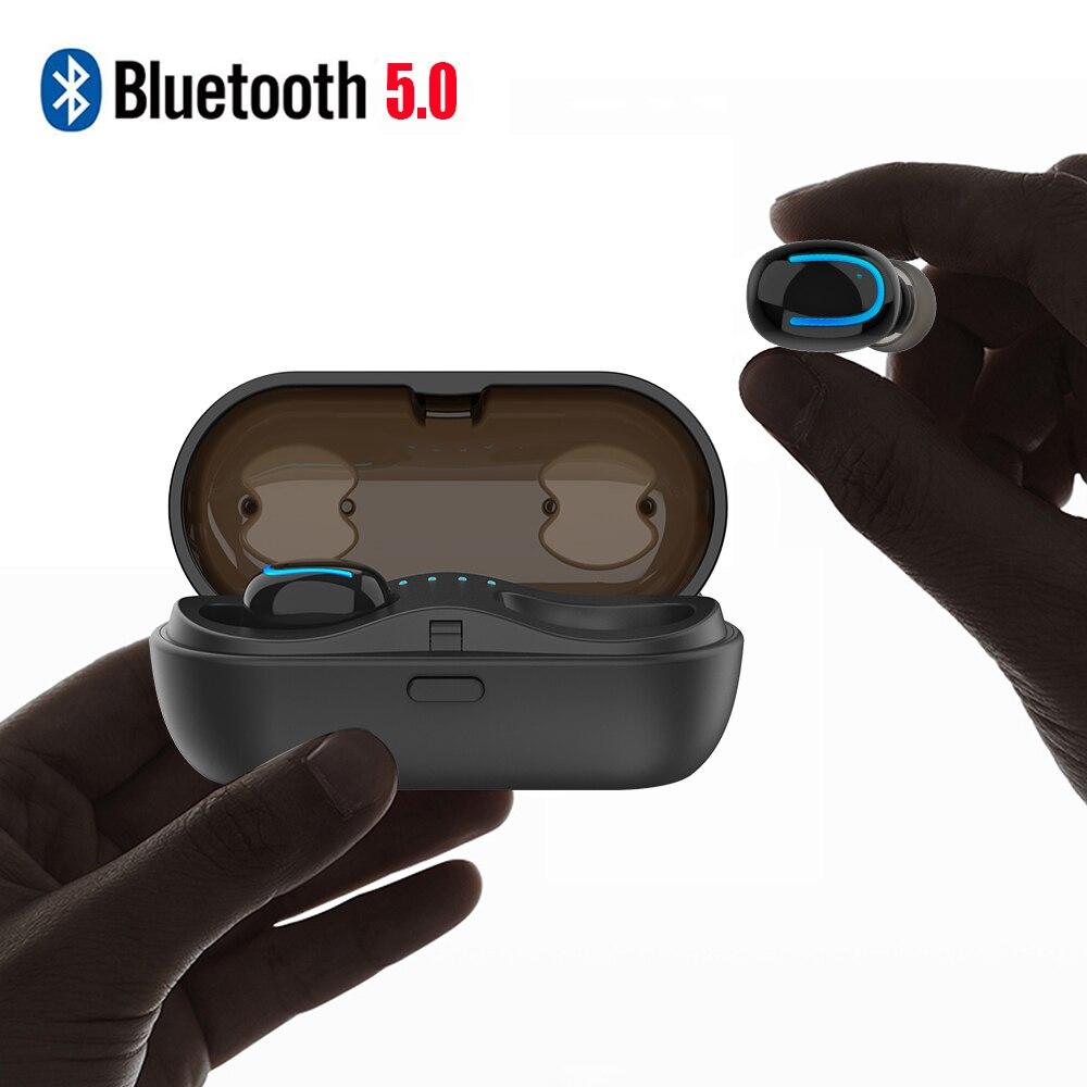 цена на Mini True TWS 5.0 Bluetooth Earphone with Charging Box Wireless Earbuds Headphone Bluetooth for Samsung/iPhone/LG Cellphone