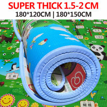 chilldren toy Baby Toy Crawling Play Mat 180*120*2CM Various sizes Two Sided Infant Climb Pad 2cm thick ,Play+Learning+Safety