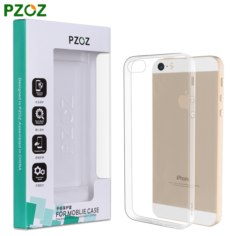 PZOZ For iphone 5S Case Original For iphone 5 Case Silicone Cover Slim Transparent Protection Soft Shell For iphone 5SE 5 S