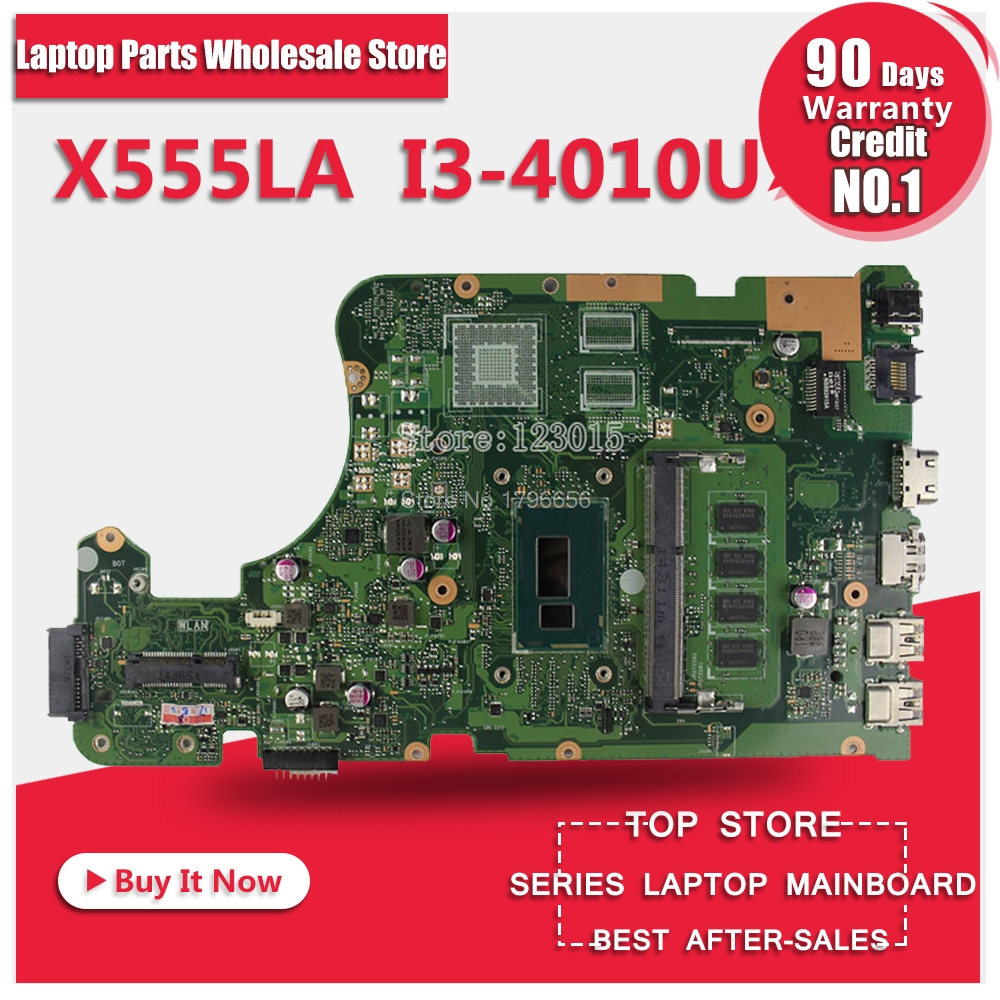 For ASUS X555LD X555LA laptop motherboard X555LD rev2.0 & rev3.1 integrated i3 cpu onboard motherboard 100% tested for asus x55vdr motherboard 4g ram i3 cpu rev3 1 100% tested integrated original new motherboard