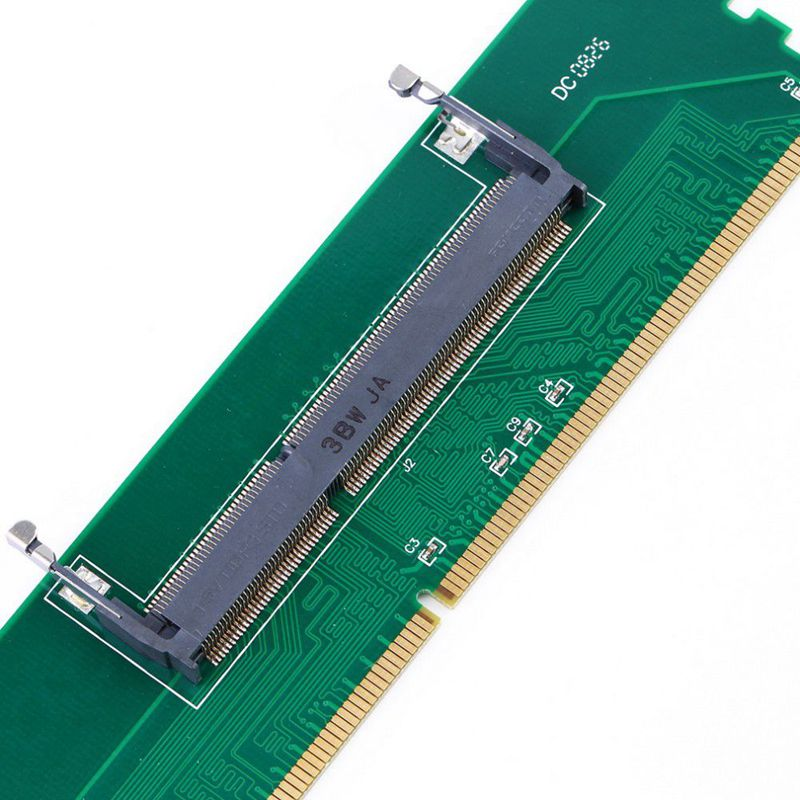 DDR3 Laptop SO DIMM to Desktop DIMM Memory RAM Connector Adapter DDR3 New adapter of laptop Internal Memory to Desktop RAM in Computer Cables Connectors from Computer Office