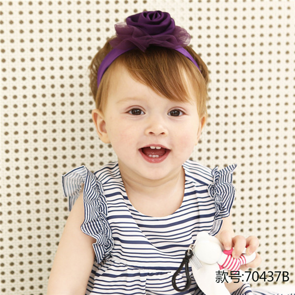 High Quality Dimensional Flower Embroidery Headband Korean Girls Hairband Hair Accessories Shiny Hair Band Scrunchy in Hair Accessories from Mother Kids