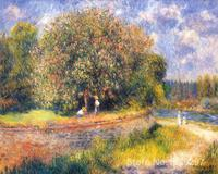 Pinturas sobre tela Árvore de Florescência por Pierre Auguste Renoir Reprodução pintados à Mão-de Alta Qualidade
