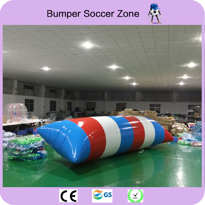 Free Shipping 8*3m 0.9mm PVC Inflatable Water Blob Blob Jump Water Toys Water Blob Jumping Bag Inflatable Aqua Trampoline
