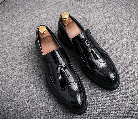 Bas De Style Épais En or Envoyer Nouveau Noir Livraison Chaussures 2018 Cuir Bas argent talon Hommes FqzTIq