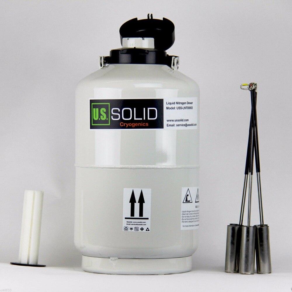 U.S. Solid 10 L Liquid Nitrogen Container Cryogenic LN2 Tank Cattle Semen Dewar 6 Canisters