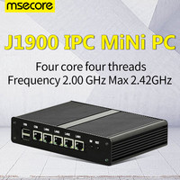 MSECORE J1900 Quad core Мини безвентиляторный ПК Windows 10 промышленный компьютер linux тонкий клиент barebone брандмауэр маршрутизатор 4 * Gigabit Lan