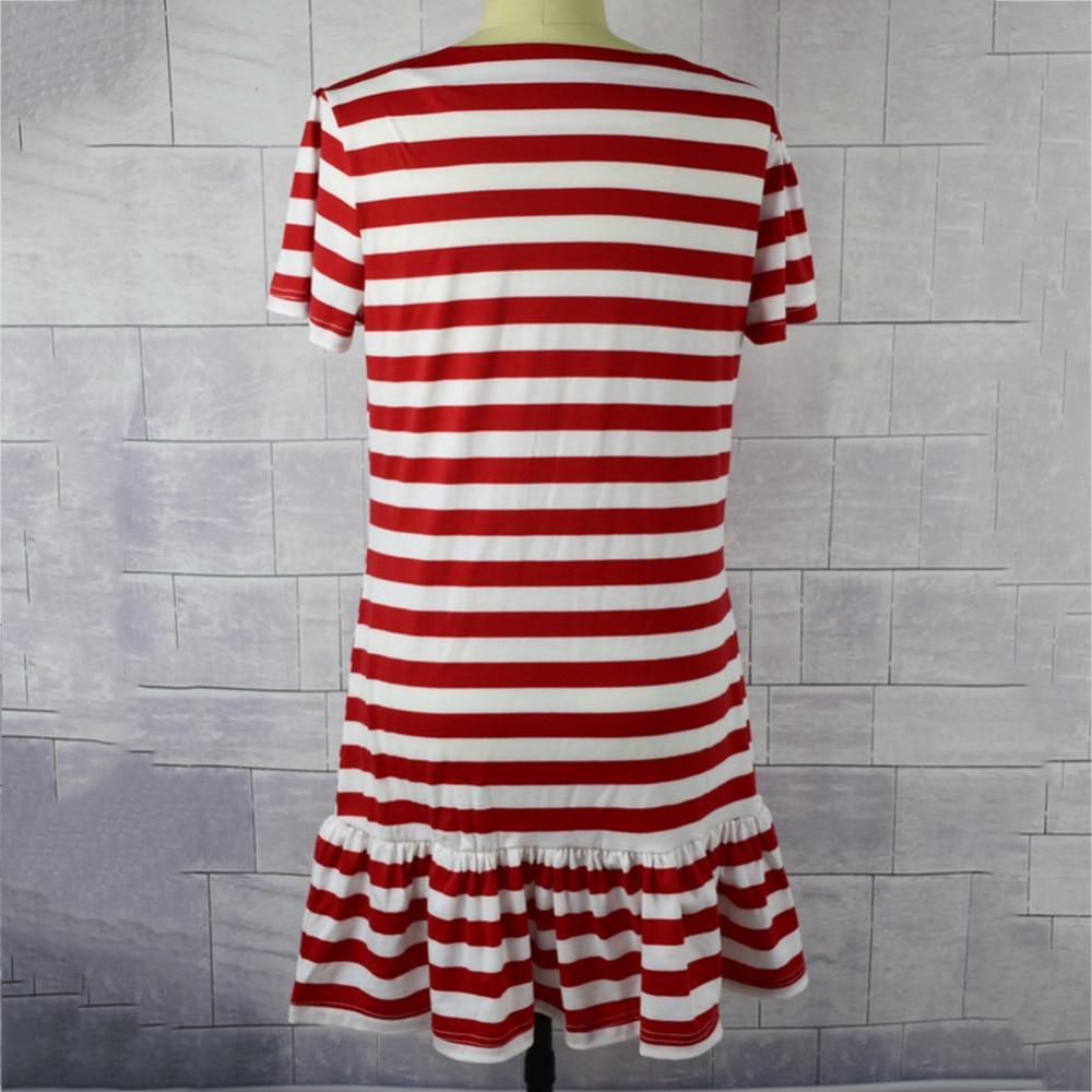 Одинаковая одежда для семьи Одежда для мамы и дочки платье в полоску платье с короткими рукавами Одежда для родителей и детей