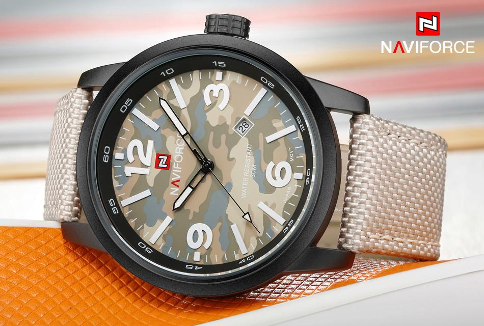 2017 Nouveau NAVIFORCE Hommes Quartz Sport Militaire Montres Hommes De Luxe de Marque De Mode Casual Montre-Bracelet Relogio Masculino Homme Horloge 4