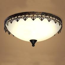 Amerikanischen Retro Led-deckenleuchten Moderne Glas Lampenschirm Unterputz Licht Für Schlafzimmer Wohnzimmer Küche Leuchte CL216