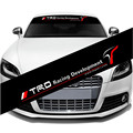 2016 Nuevo 1 UNIDS 130*20 cm Creativo Sombrilla del Parabrisas Delantero Del Coche TRD Racing Decor Sticker Car Styling Auto Universal Frío Parche
