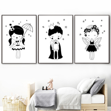 Little Prince Fairy Nordic Poster And Print Wall Art Canvas Painting Wall Picture For Kids Bedroom Baby Boy Girl Room Home Decor scott woods prince and little weird black boy gods