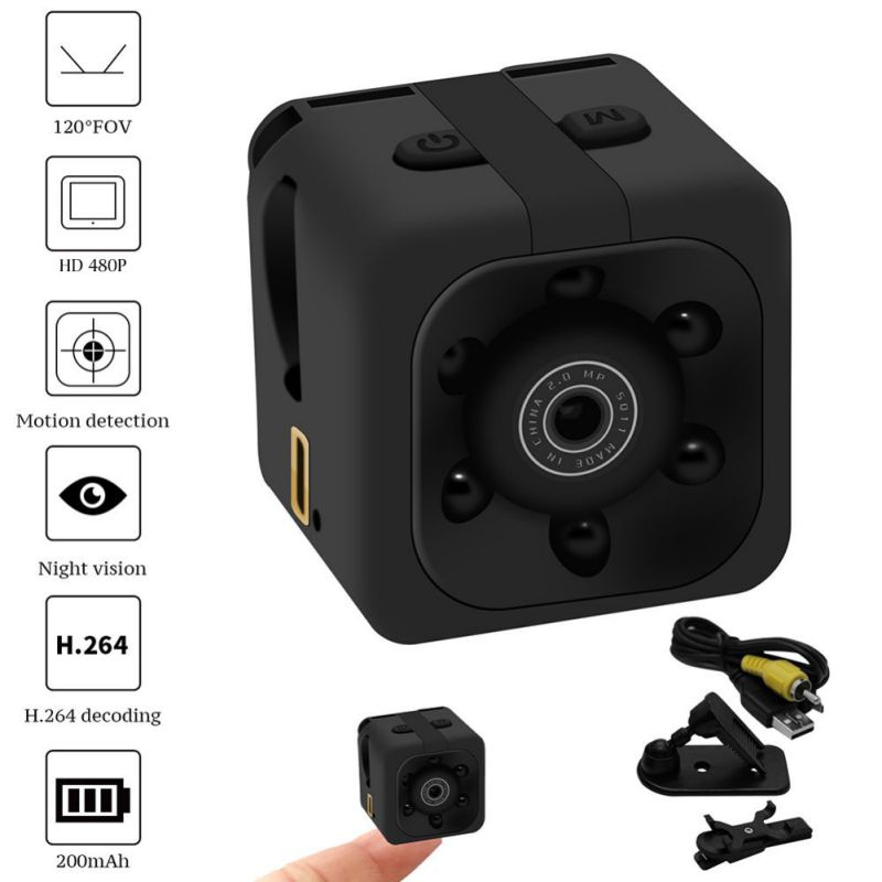 Small Dashboard Camera 480P Rotatable Adjustable Intelligent Motion Detection Night Vision Recorder Camcorder DV(China)