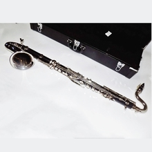Bass Clarinet Bb Flat Batelite Clarinets Nickel plated Bell with Wood case Reeds Professional musical instruments