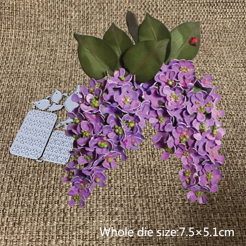 New Design Craft Metal Cutting Dies Cut Die Mold Lilac flower Scrapbooking DIY Album Paper Card Craft Embossing Die Cuts