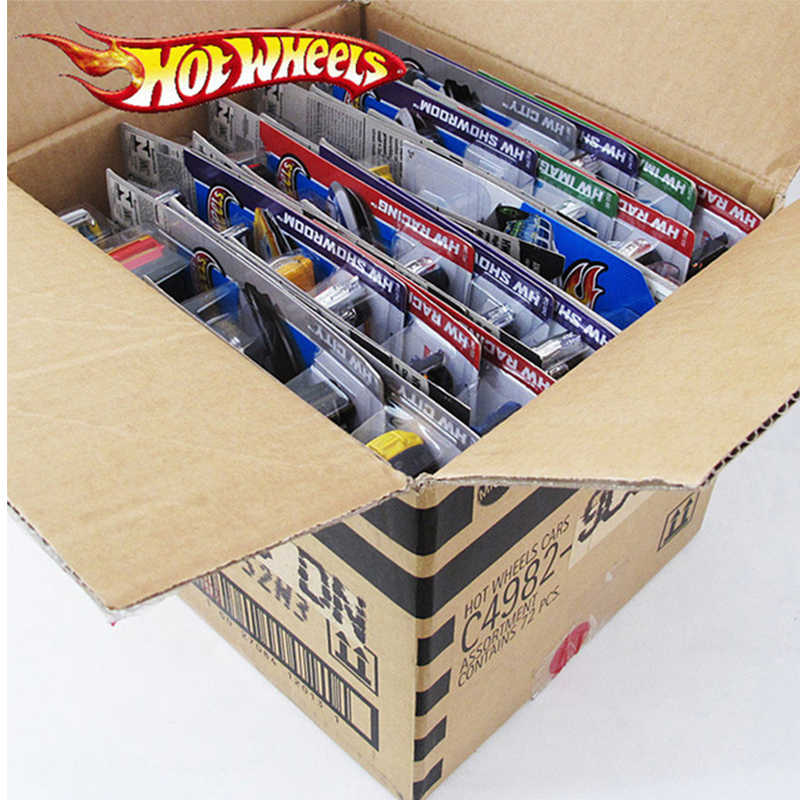 72pcs/box Hot Wheels Diecast Metal Mini Model Car Brinquedos Hotwheels Toy Car Kids Toys For Children Birthday 1:43 Gift