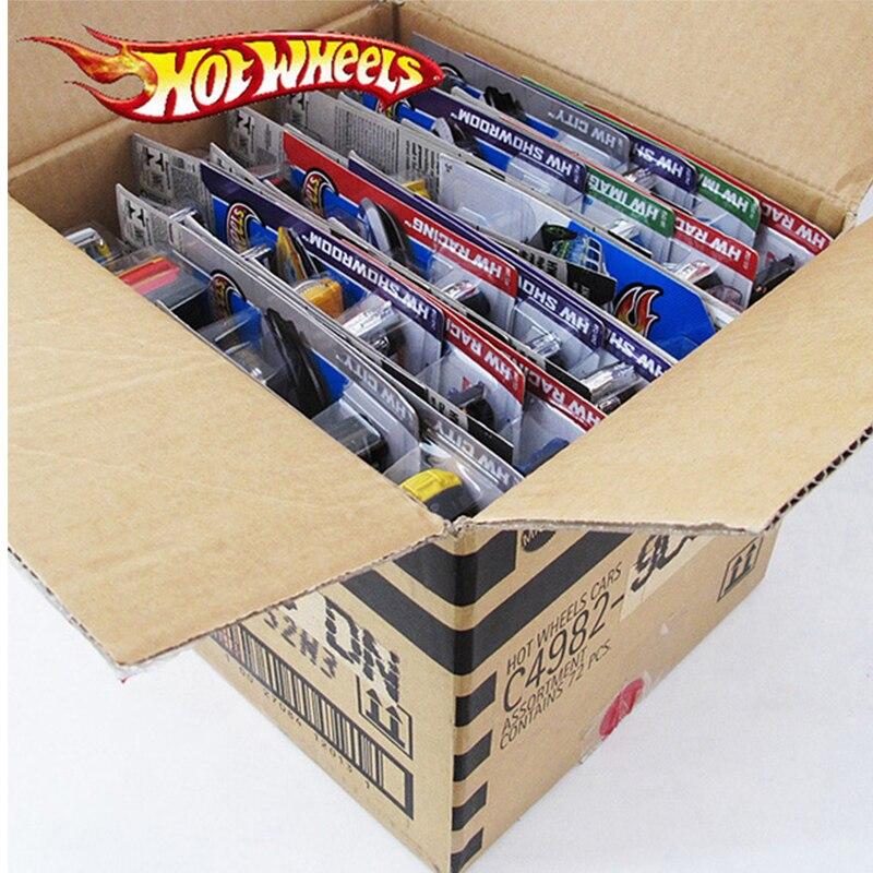 72 pcs/boîte Hot Wheels Moulé Sous Pression En Métal mini modèle De Voiture Brinquedos Hotwheels voiture en jouet jouets pour enfants Pour Enfants D'anniversaire 1:43 Cadeau