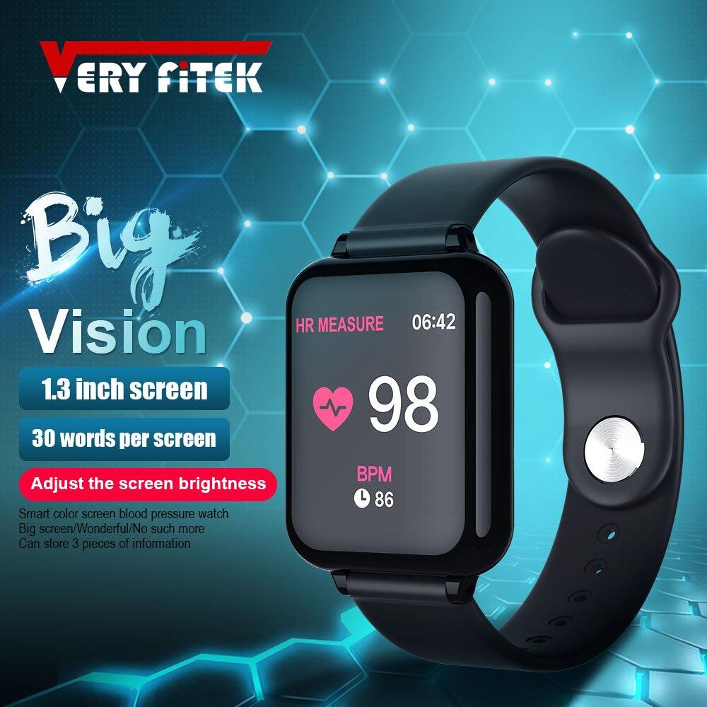 VERYFiTEK AW4 Männer Frauen Smart Uhr Herz Rate Monitor Fitness Armband Uhr Blutdruck Sauerstoff Smartwatch für IOS Android