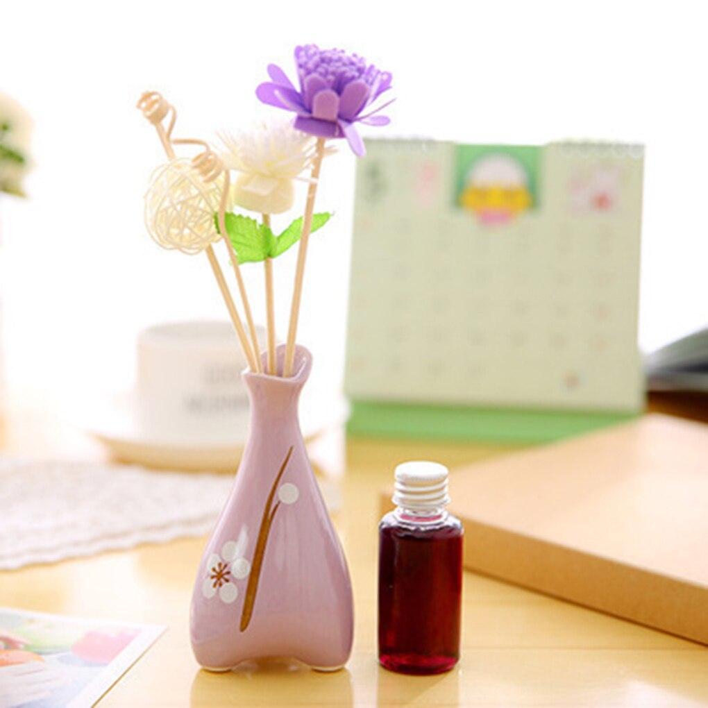 1 компл. три ноги печати дерева сухой цветок ротанг не огонь ароматерапия набор Ладан палочки эфирное масло