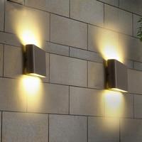 Thrisdar 6W IP65 Waterproof COB Led Wall Lamp  Outdoor Garden Villa Fence Patio Corridor Aisle Wall Sconce Lighting AC85V-265V