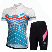 2017 Bike Bicycle Clothing Short Sleeve Suit+Shorts Sets anti-sweat bicycle suit women girl Cycling Jersey and bike shorts