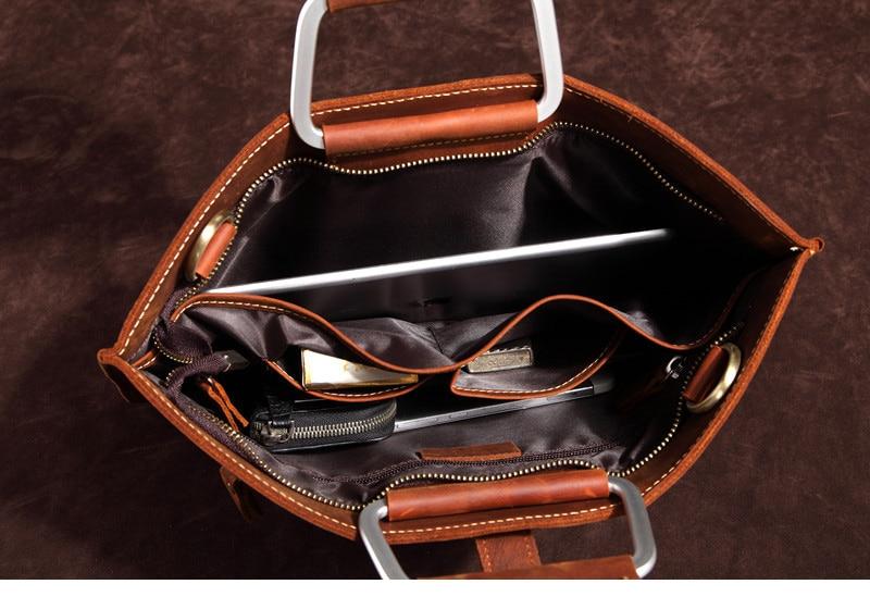 HTB1jemDIFmWBuNjSspdq6zugXXa4 Genuine Leather Men's Handbags Crazy Horse Leather Man Retro Tote Bag Shoulder Messenger Bag Business Men Briefcase Laptop Bag