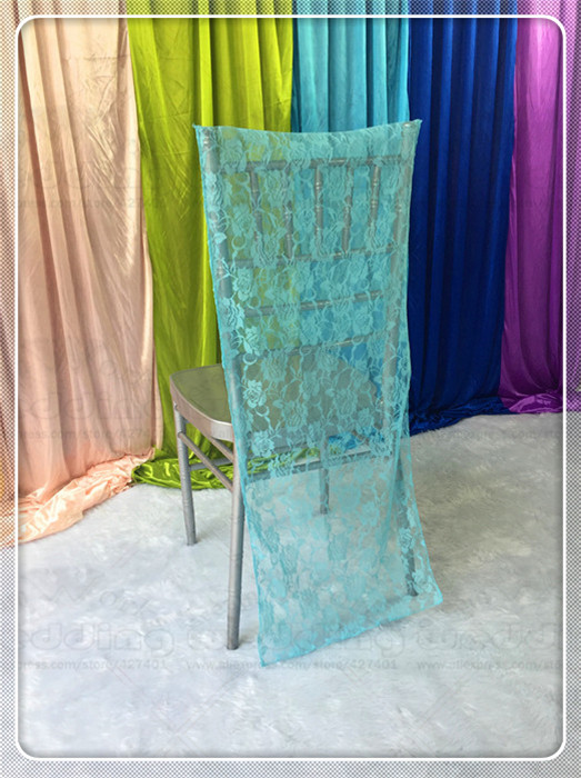 Chiavar Chair Hoods Caps Sashes Bow Lace Fabric Table Runner Tablecloth Napkins Skirt Overlay Linen Party Wedding Decorations