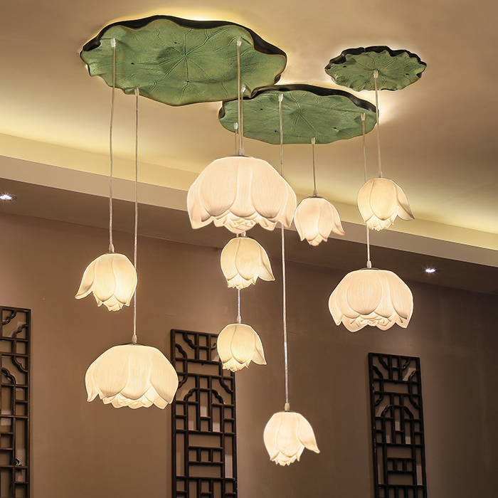new Chinese pendant lights restaurants living room lamp lotus lotus art pendant lamp FG8559 развивающая игрушка музыкальный молоток happy baby magic hammer звук