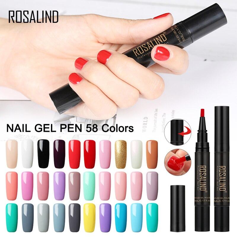 ROSALIND Nail Gel Pen Polish Hybrid Set For Manicure Spider Gel lak ...