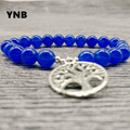 YNB 8mm Nature Stone Beads Bracelets with Tree of Life, Many Colors  Handade Bracelets For Women,  2016 Mens Bracelets Jewelry