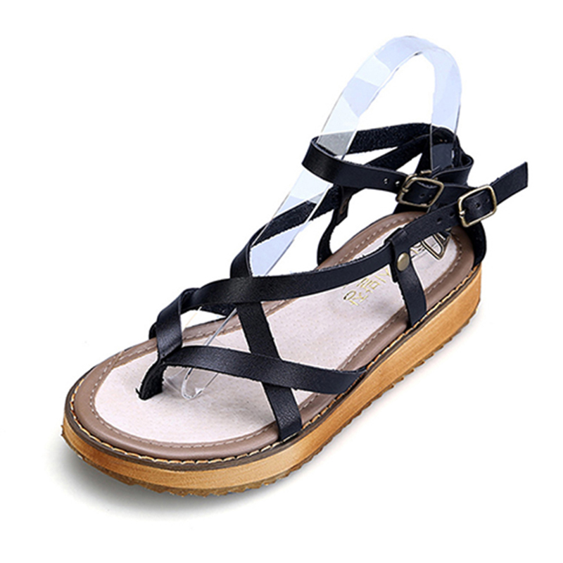Summer Shoes Woman Hot Selling Sandals Women 2017 Peep-toe Flat Shoes Roman Sandals Women Sandals Sandalias Mujer women shoes summer women sandals 2017 peep toe gold silver roman sandals shoes platform brand creepers woman sandalias size 43