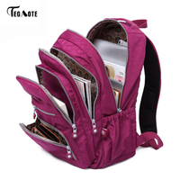 TEGAOTE School Backpack For Teenage Girl Mochila Feminina Women Backpacks Nylon Waterproof Casual Laptop Bagpack Female