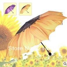 Zcela nový slunečnice 3 skládací deštník personalizovaný - Výrobky pro domácnost