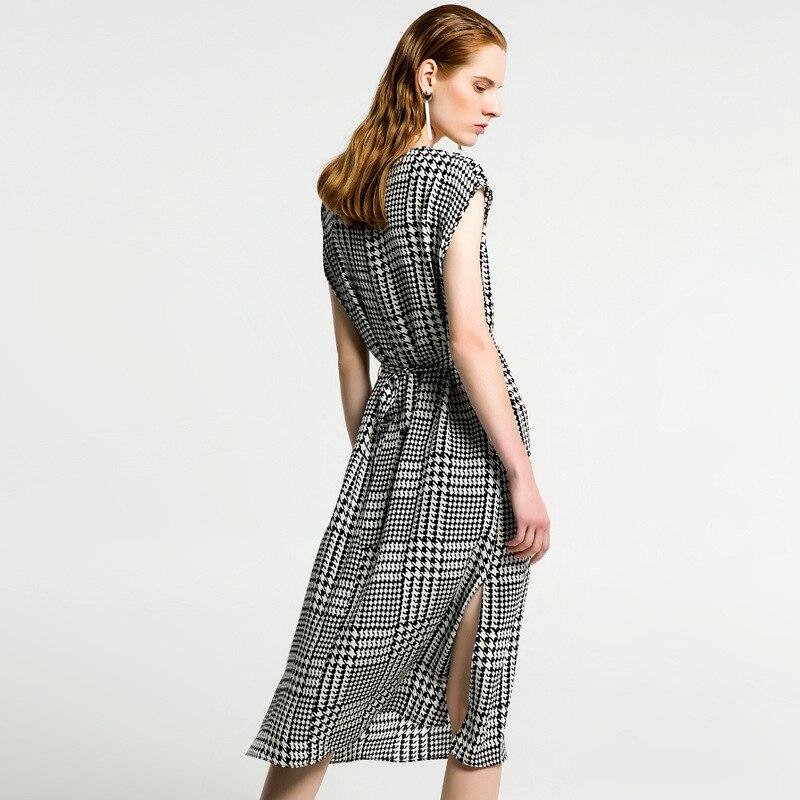 silk dress summer robe femme ete 2018 maxi women beach shirt dresses long boho plus size sexy casual bandage grey whales plaid
