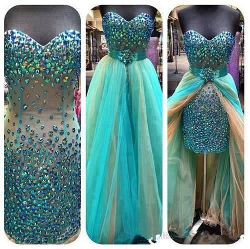 Robe De Soiree 2018 Sweetheart Sleeveless Backless vestido de noiva Crystal Detachable skirt Prom Party gown   bridesmaid     dresses