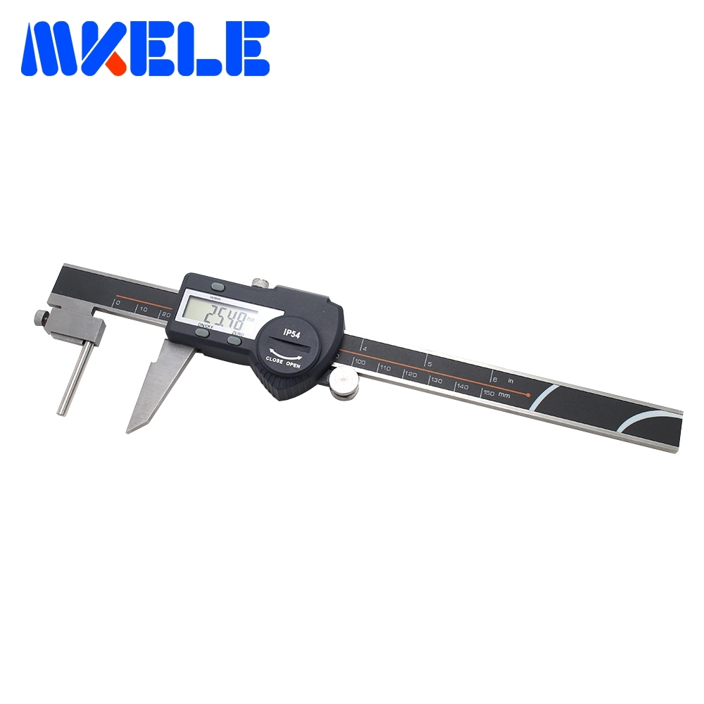 цена на 0-150mm Tube Thickness Digital Vernier Caliper High-Accuracy Digital Micrometer Caliper IP54 Waterproof Free Shipping